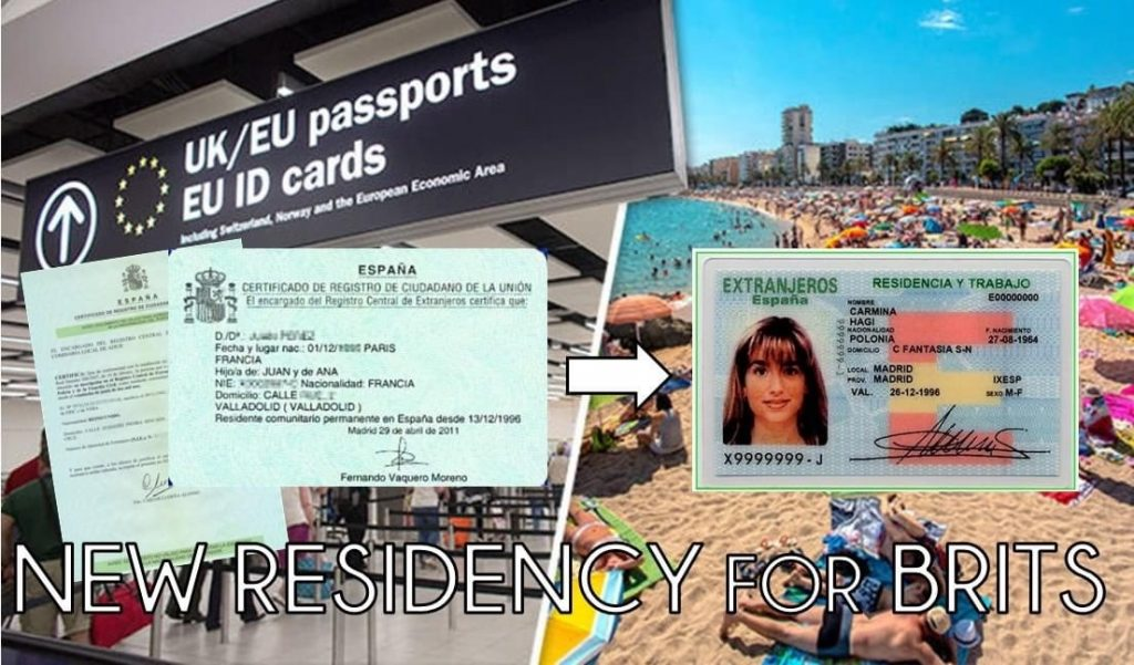 exchange green card to tie card Spain